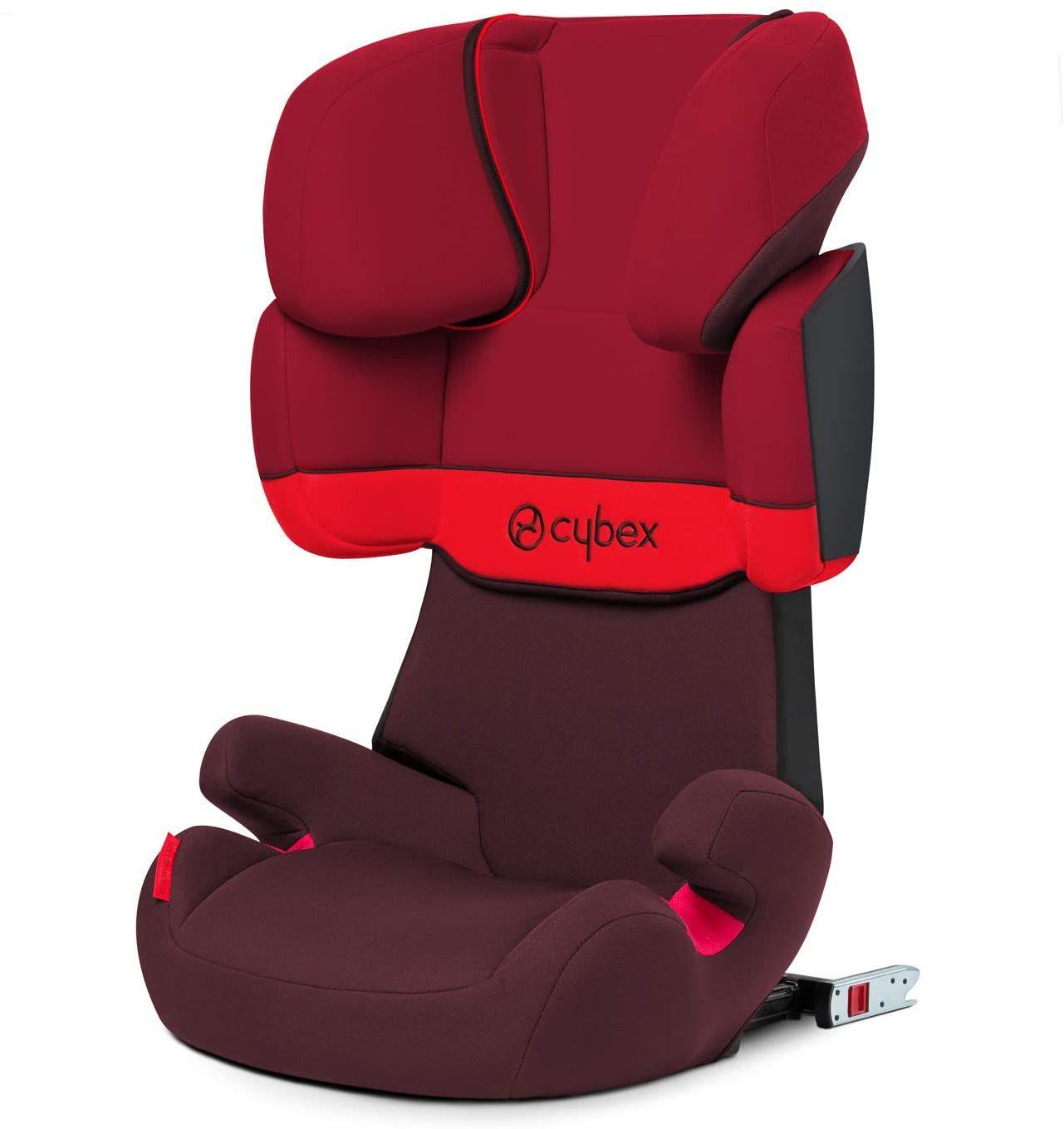 Cybex Silver Solution X-Fix Silla de Coche Grupo 2/3 (15-36 kg), desde aprox 3 hasta 12 Años, Rojo (Rumba Red),