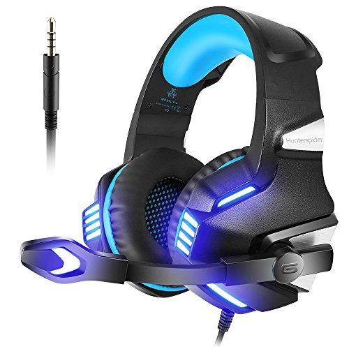 Auriculares Gaming con Micrófono Aislante,Sonido Envolvente,Luz LED. Por 13,99€, (en Rojo 12,99€)