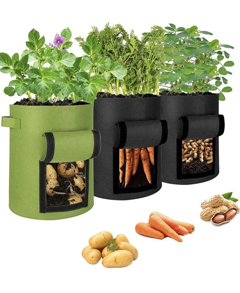 3 Bolsa de cultivo para patatas o fresas o lo que surja