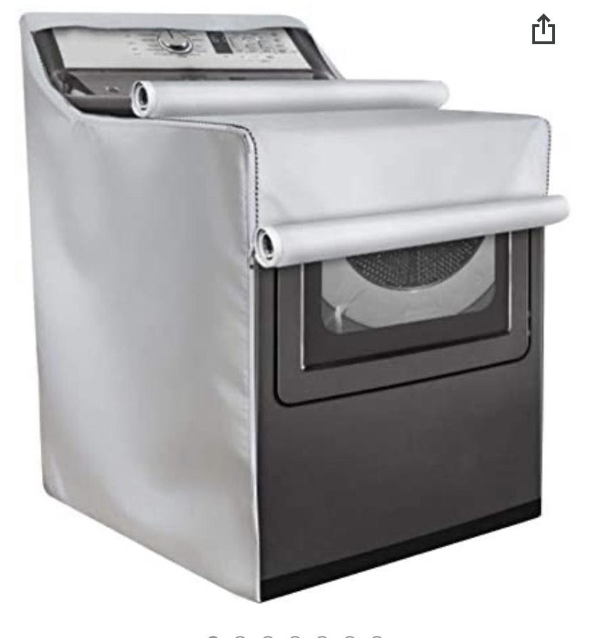 Cubierta para secadora de lavadora y lavadora