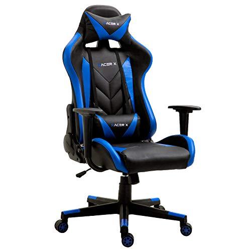 X T-LoVendo TLV-RX-Blue Silla Gaming Gamer Racer