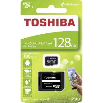 Tarjeta Micro SD Toshiba M203 UHS-1 128GB con Adaptador