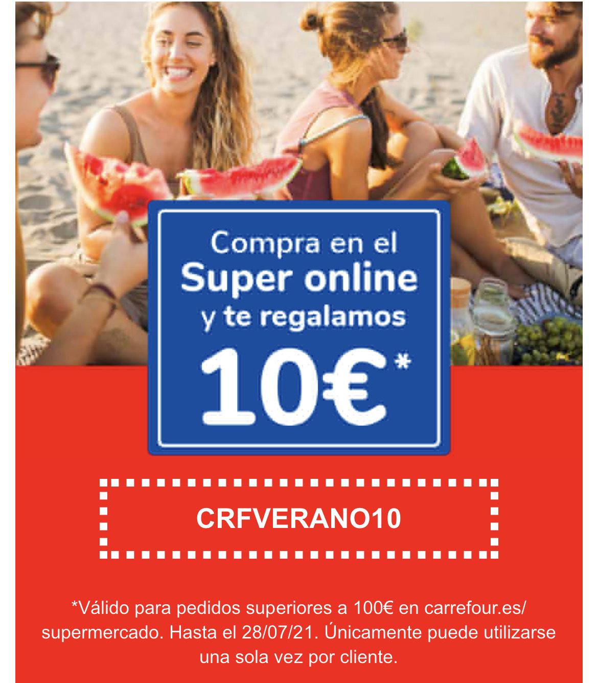 10€ de descuento en compra online (100€ gasto mínimo)