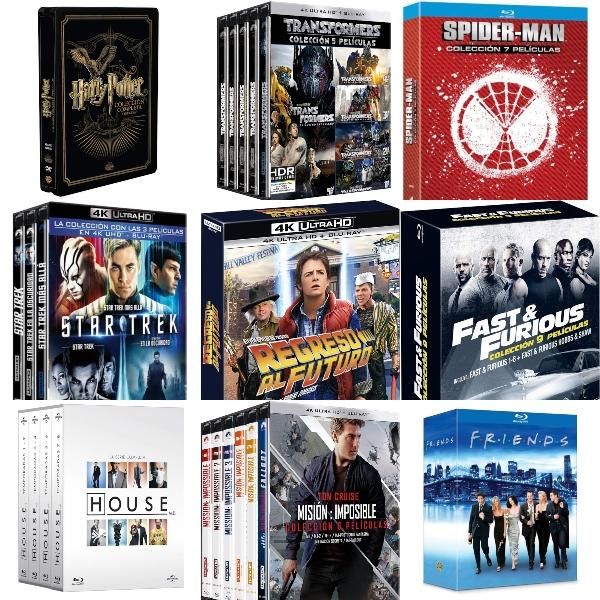 PACKs - Harry Potter, Fast and furious, Spiderman, Transformers y otros Blu-ray o 4K Ultra al 50%
