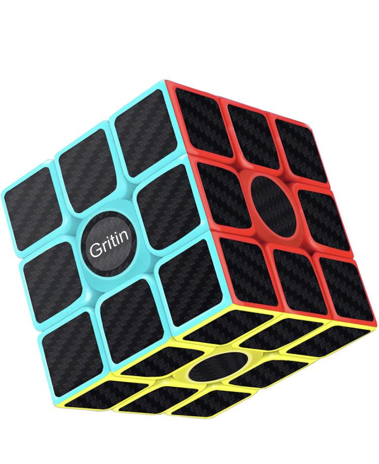 Juego Gritin Cubo Mágico, Cubo de Velocidad 3x3x3 Puzzle Inteligencia Mágico Speed Cubo Rompecabezas y Fácil Giro, Súper Duradero