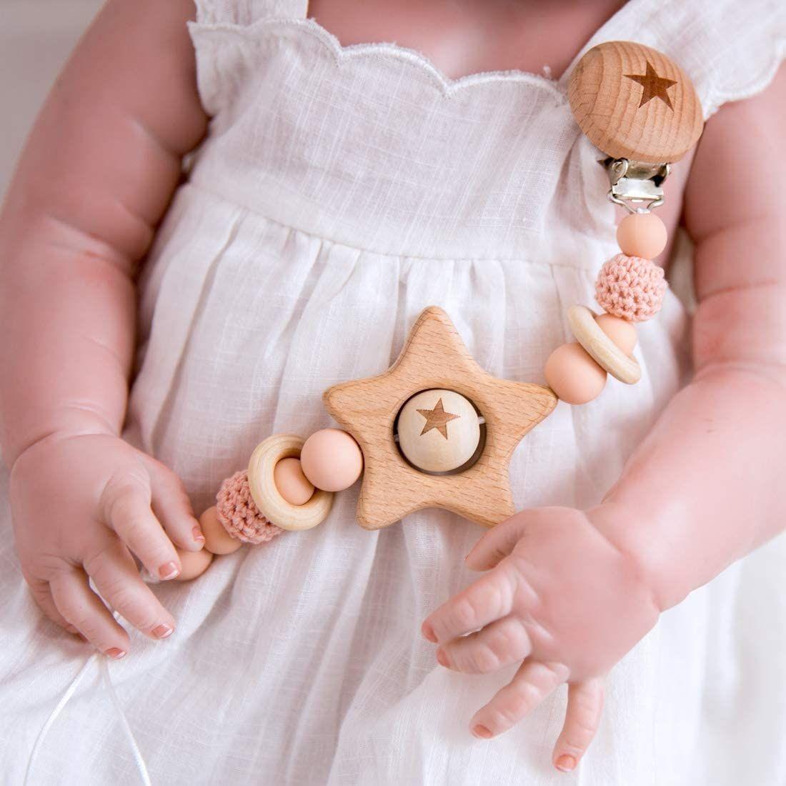 Baby Pink Crochet Beads Silicona Mordedor