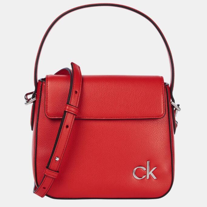 Calvin Klein Bandolera pequeña de mujer en rojo