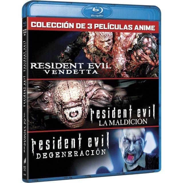 Pack Residen Evil: Vendetta + Maldicion + Degeneraciom (BLU-RAY)