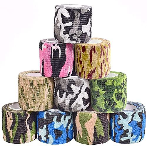 10 rollos de cinta de camuflaje