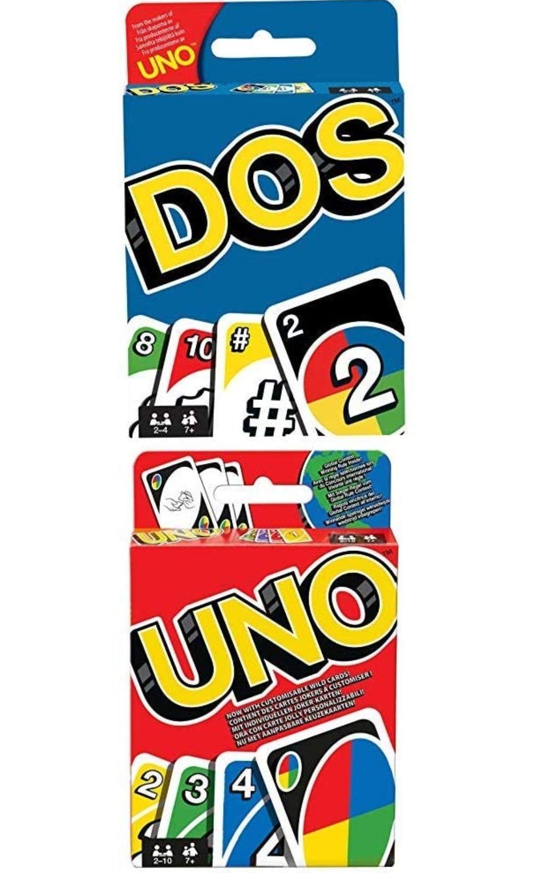 Pack de juegos UNO + DOS