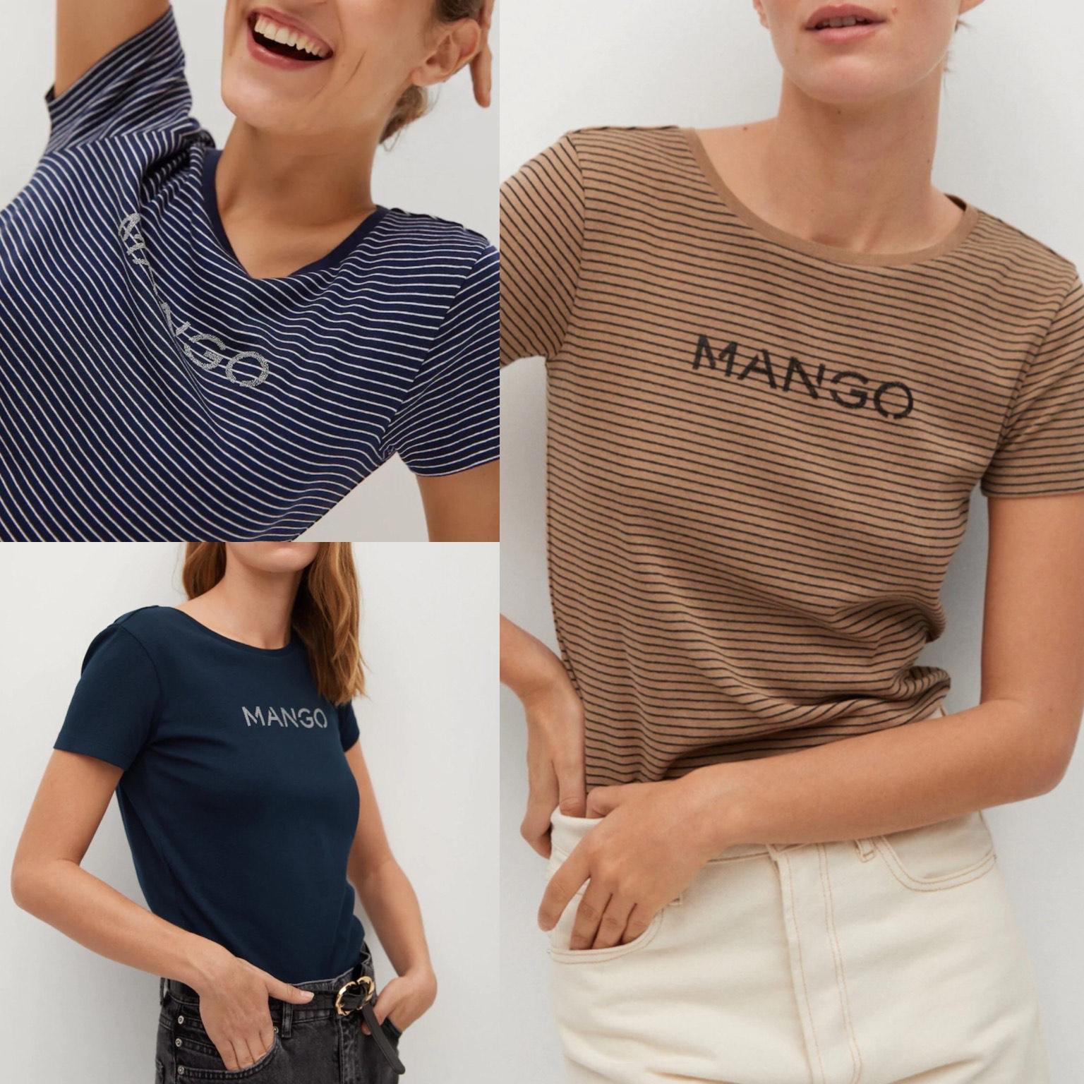 Camisetas mujer logo Mango en algodón orgánico por -4€ (envío gratis a tienda)