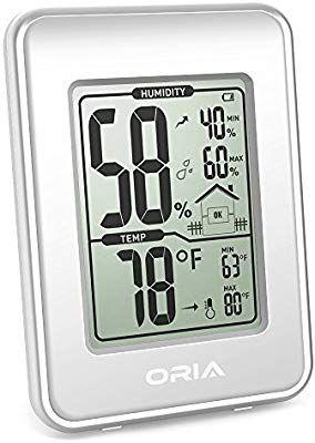 Termómetro e Higrómetro Interior con Pantalla LCD
