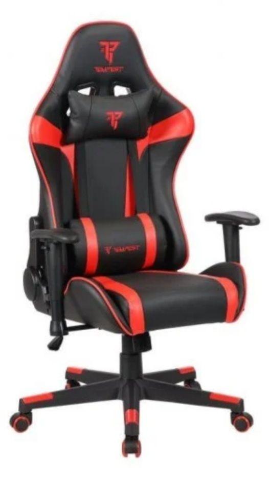 Pack Silla Gaming+Alfombra Gaming - de 90 a 180° - TEMPEST (disponible azul, rojo y negro)