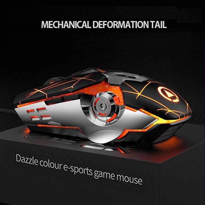 Ratón gaming futurista 8D 3200ppp LED