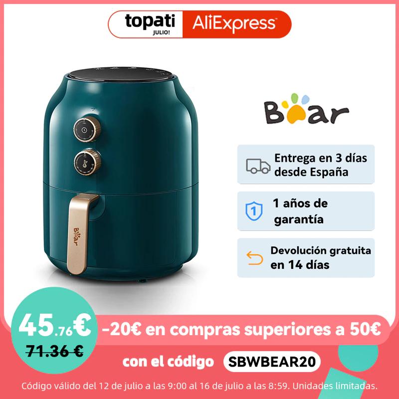Bear freidora de aire eléctrica sin aceite - Desde España