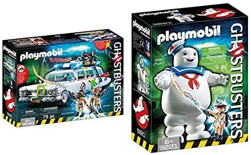Set Ghostbusters coche de Luz y Sonido mas Muñeco Marshmallow