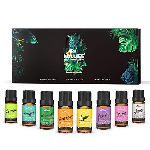 KOLLIEE Aromaterapia Aceites Esenciales Naturales Puros Organicos Aceites Esenciales Set Bio Para Humidificador Difusor