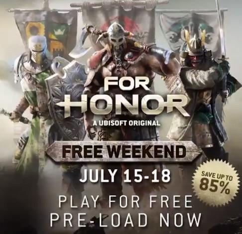 Jugad a For Honor gratis del 15 al 18 de julio [PS4, PS5, Xbox One, Xbox Series X|S y PC]