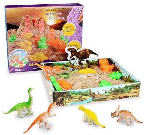 Arena marina, manualidades para niños con dinosaurios.