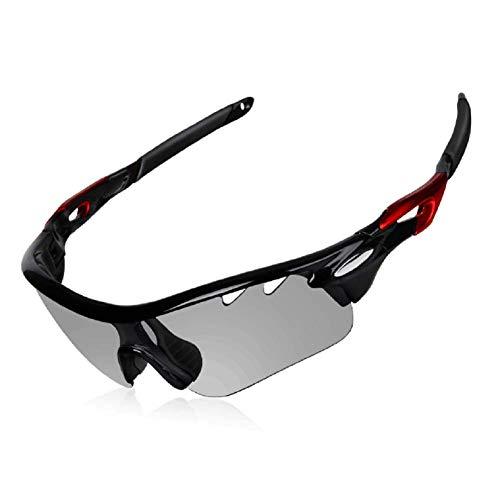 DEKINMAX Gafas Ciclismo Protección UV, estuche incluido
