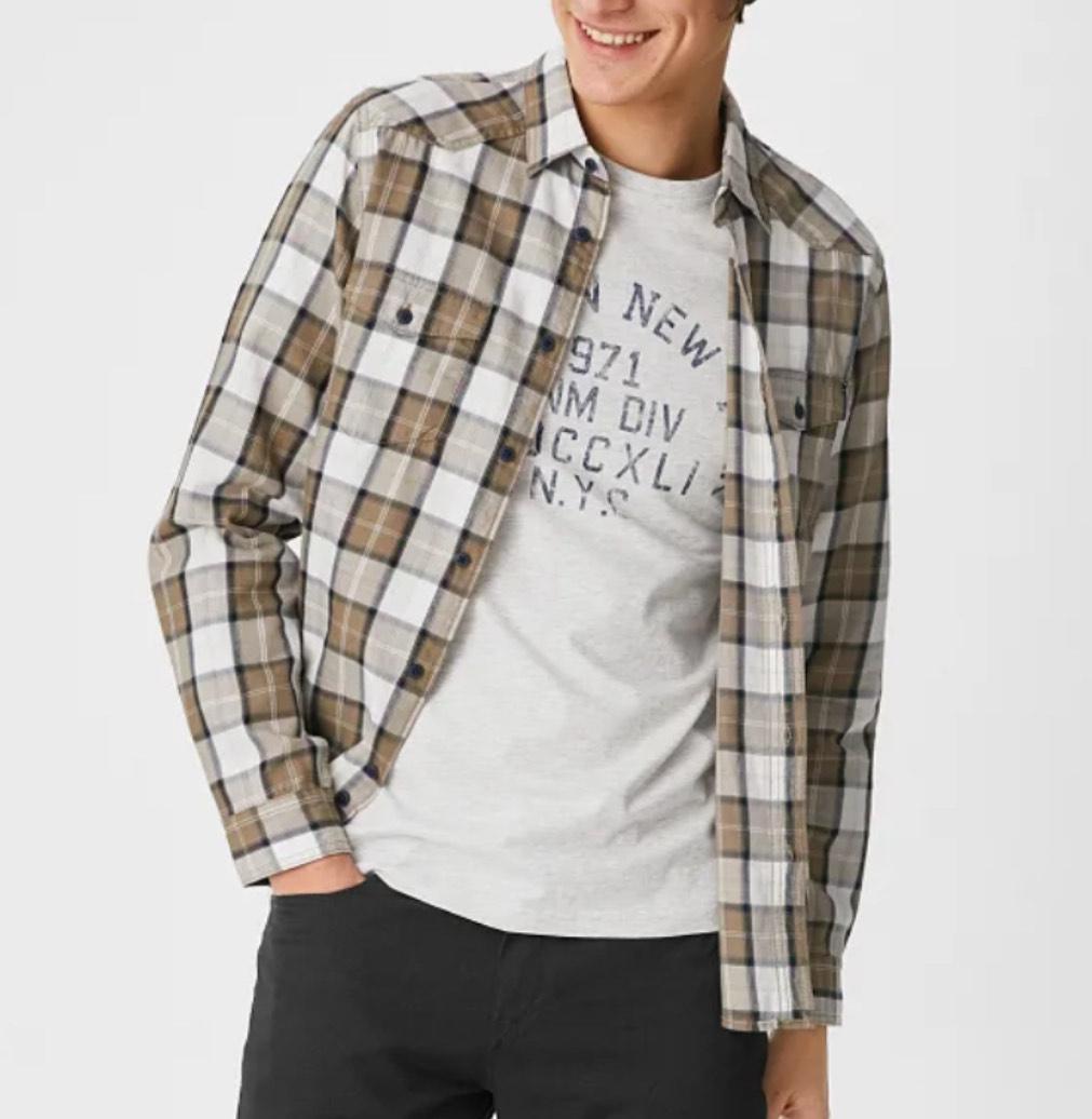 Pack camisa+camiseta hombre tallas S, XL y XXL (precio en la cesta) Envío a tienda gratis.