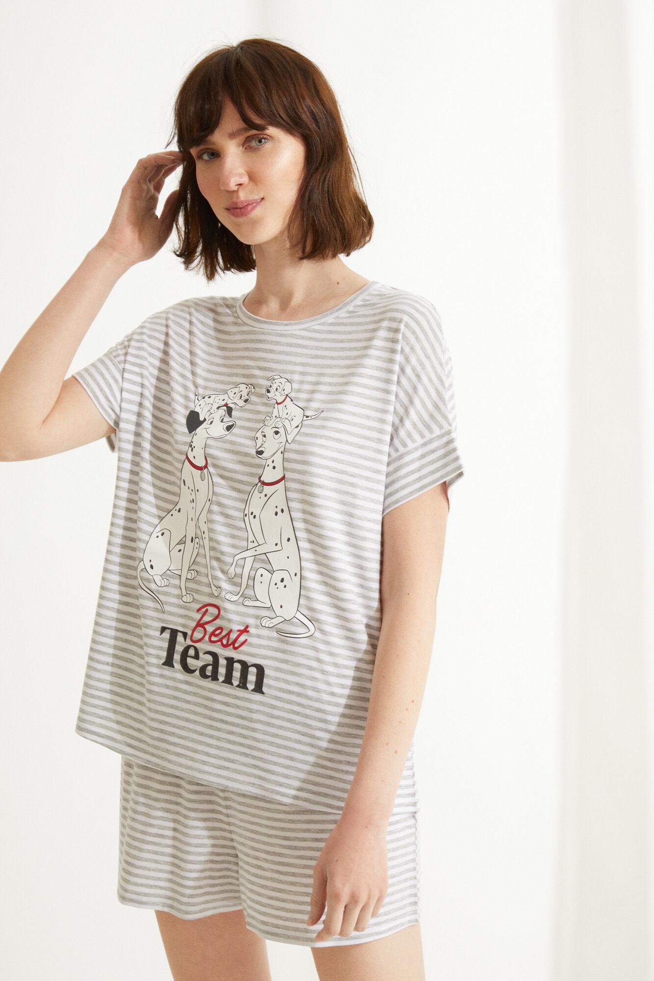 Tallas XS a XL - Pijama Corto Algodón 101 Dálmatas Rayas (Tb en Springfield)