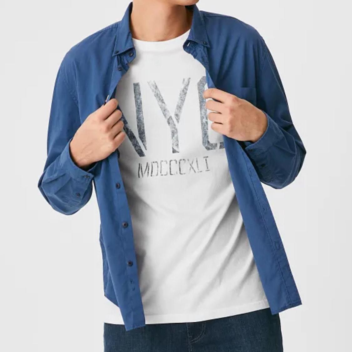 Pack camisa+camiseta hombre talla XL (precio en la cesta) Envío a tienda gratis.