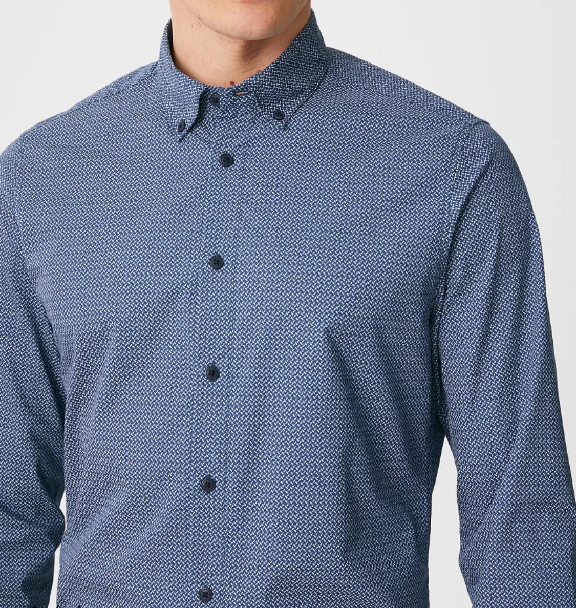 Camisa slim fit hombre tallas de la S a XXL (precio en la cesta, también en celeste) Envío a tienda gratis.