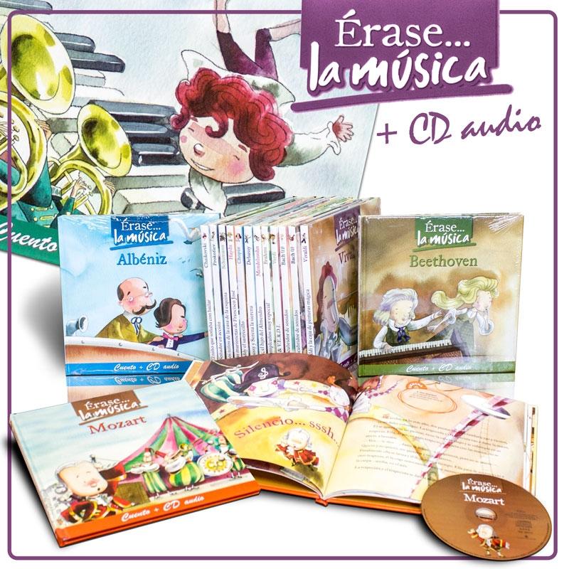 ÉRASE… LA MÚSICA. LIBROS + CDS , Compra individual o en PACK.