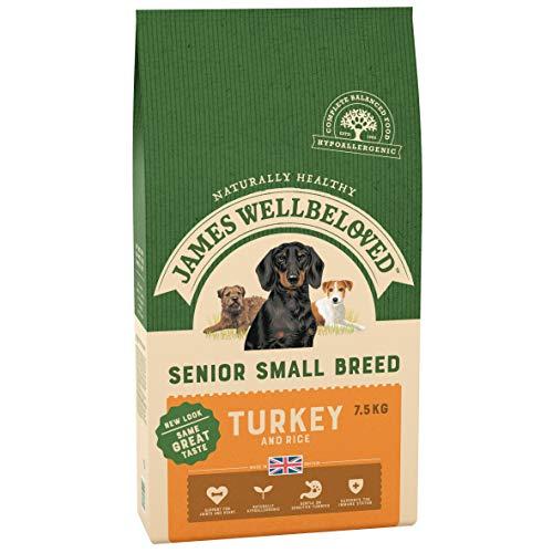 James wellbeloved senior small, Pavo y arroz, perros, 7.5kg