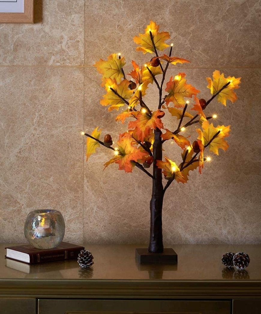 Árbol de mesa Arce de Otoño con luz LED 60cm