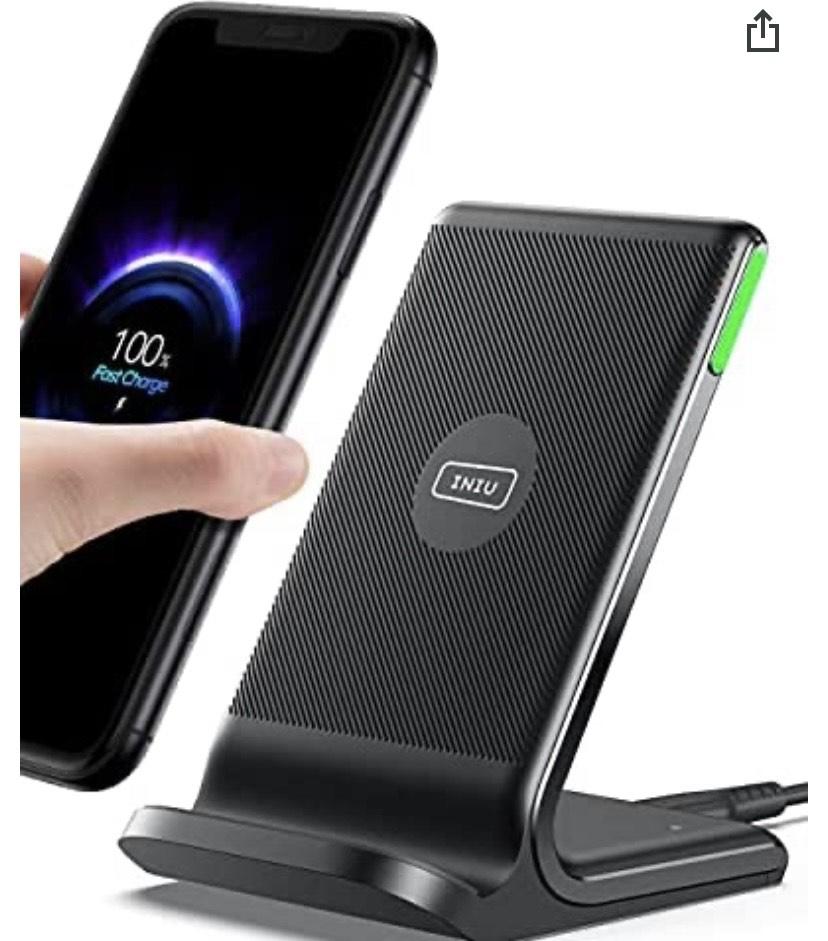 Cargador Inalámbrico Rápido, 15W Qi Wireless Charger