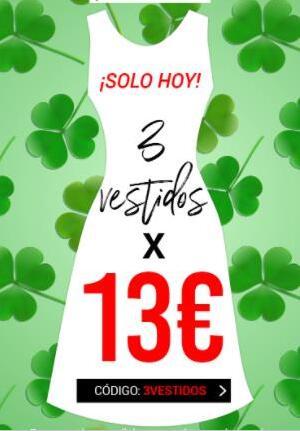 3 Vestidos por 13€