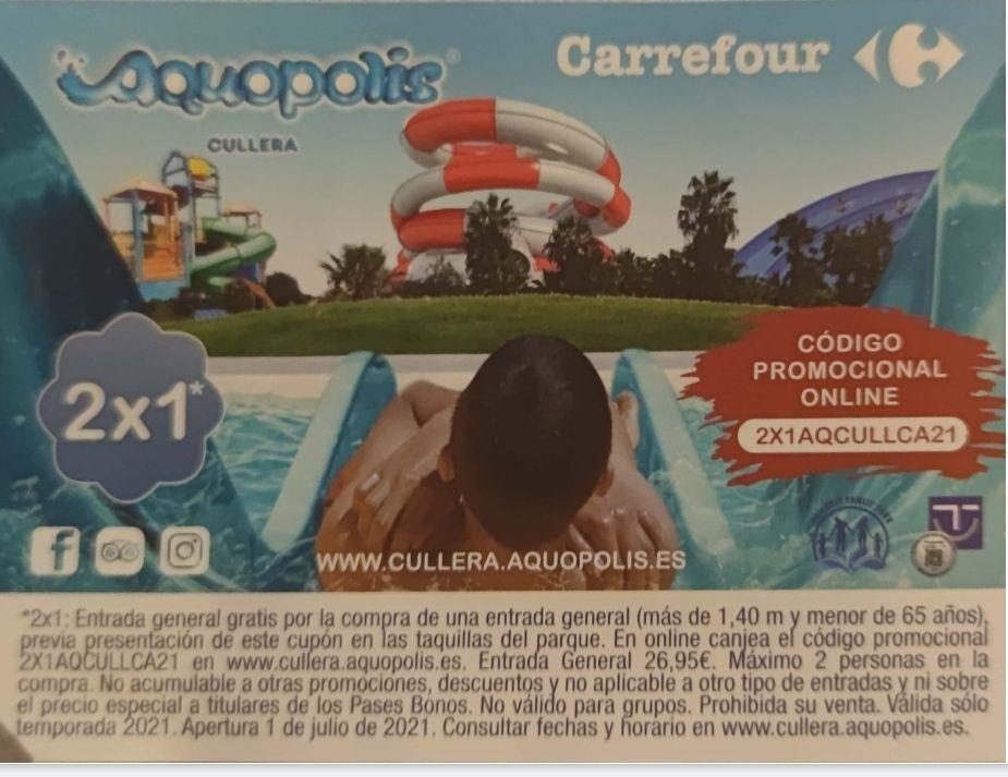 2x1 entradas Aquopolis Cullera (Valencia)