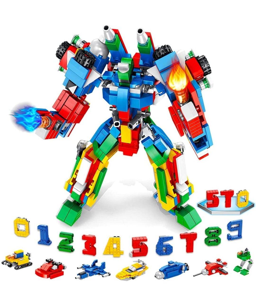 Juego educativo de construcción,570 piezas,robot .
