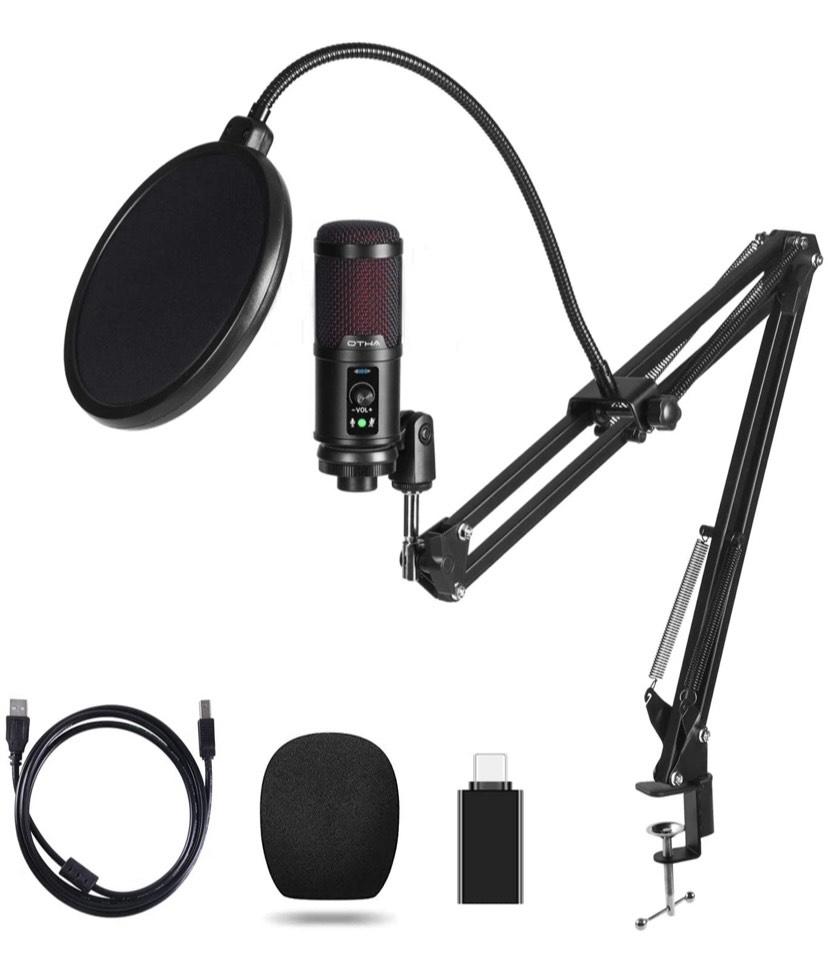 Micrófono de Condensador para PC con brazo y accesorios