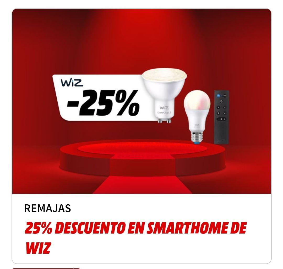 25% de Descuento en Smarthome de Wiz en Mediamarkt