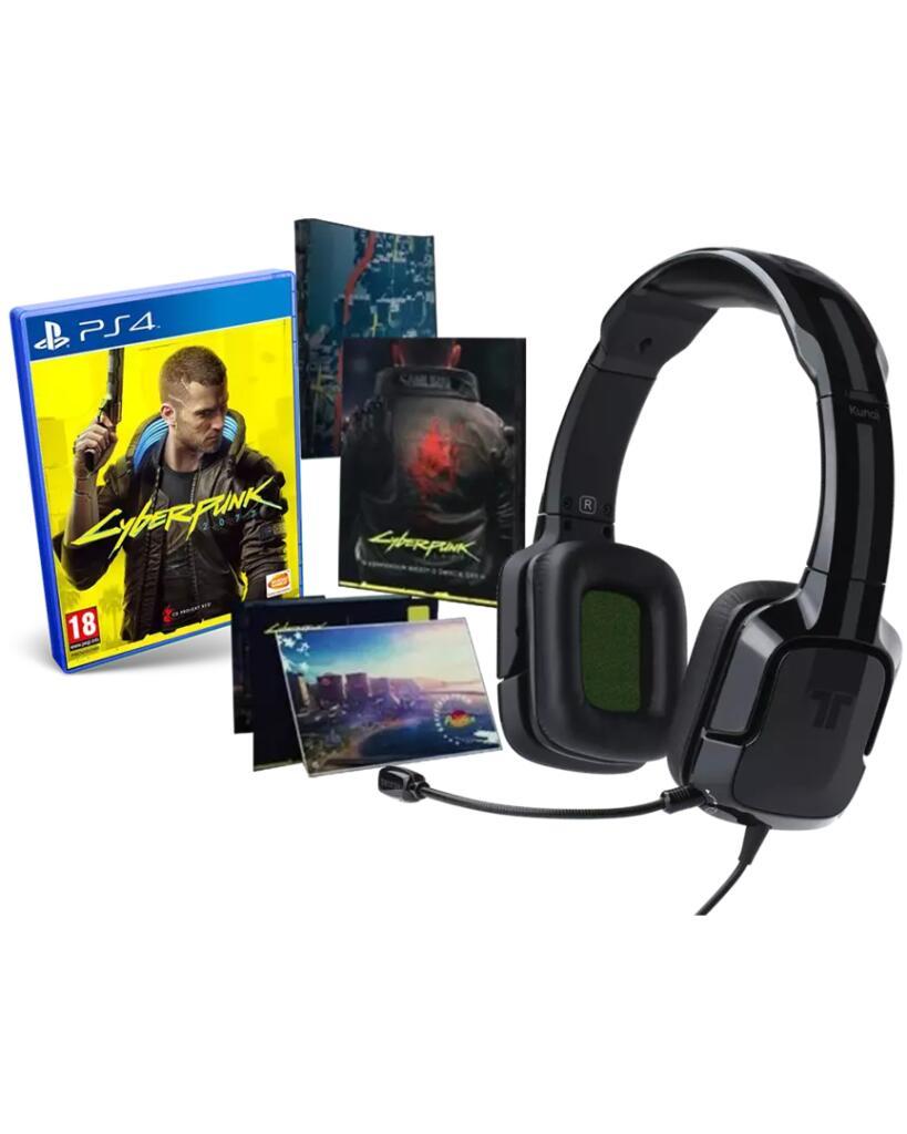 PS4 Y XBOX ONE/SERIES X: Cyberpunk 2077 Edicion Day One + Auriculares Tritton Kunai Negros por sólo 29,99€