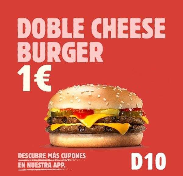Doble cheeseburger a 1€