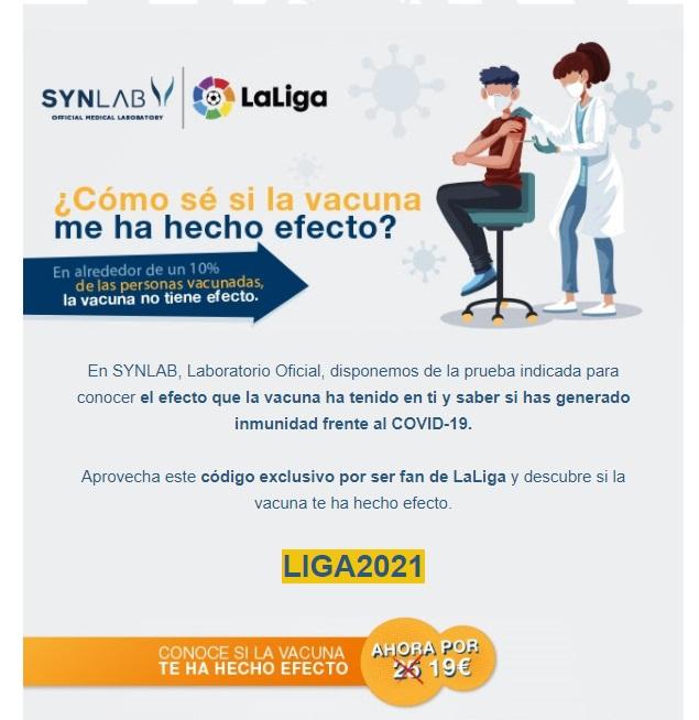 Conoce tu inmunidad por 19€ sólo por ser fan de LaLiga