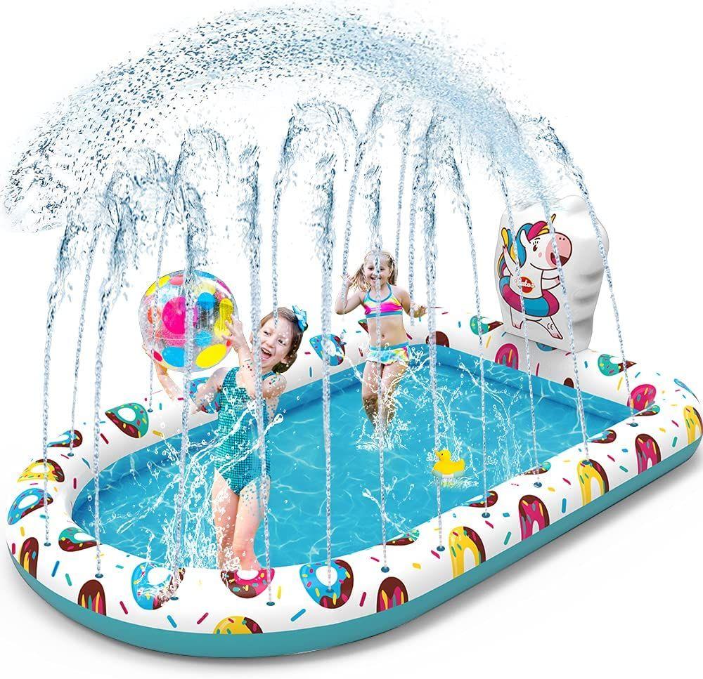 VATOS Splash Pad Tapete de Juegos de Agua Piscina Hinchable con Rociadores
