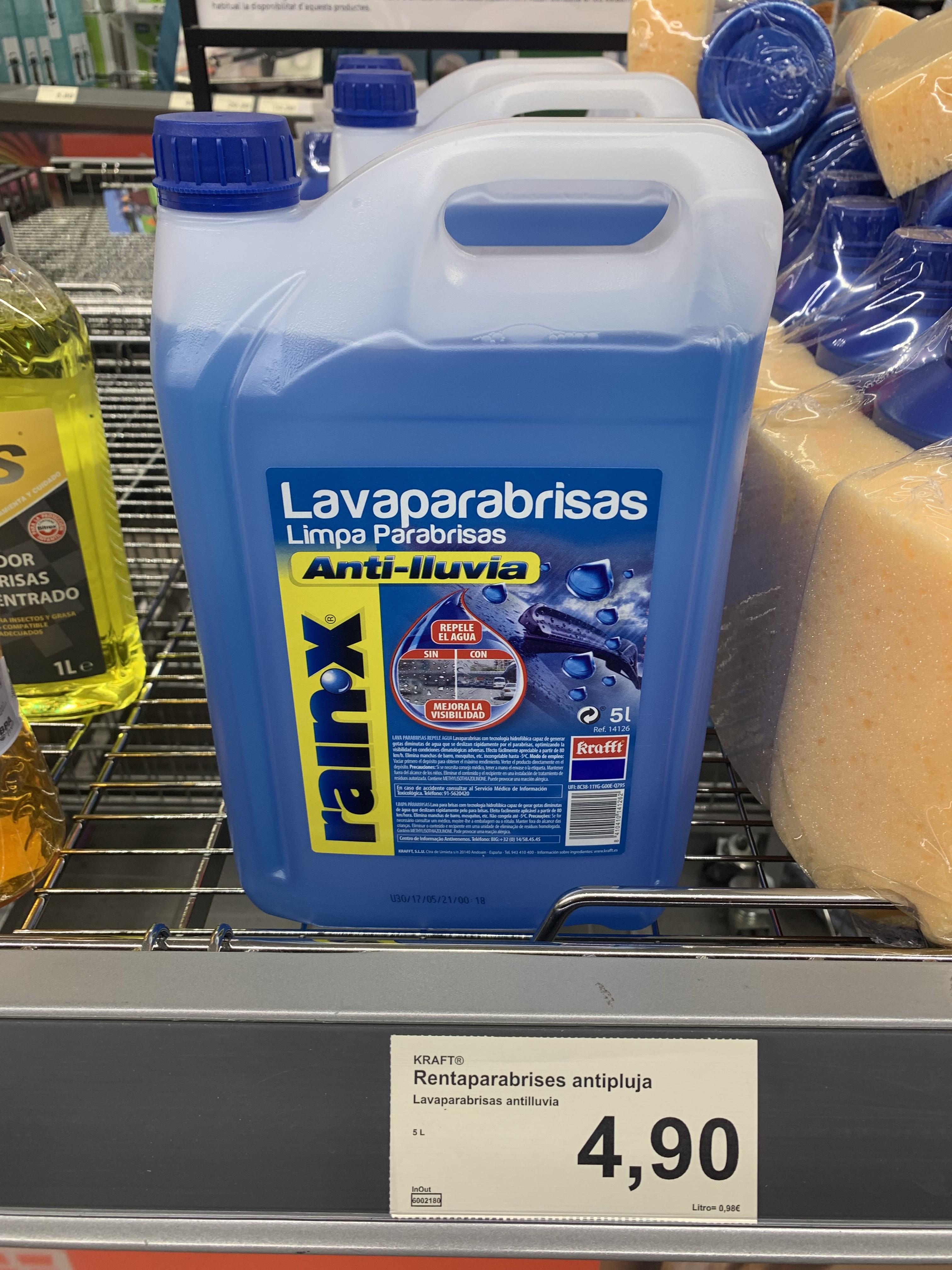 Lavaparabrisas Rain x 5L en tiendas Aldi