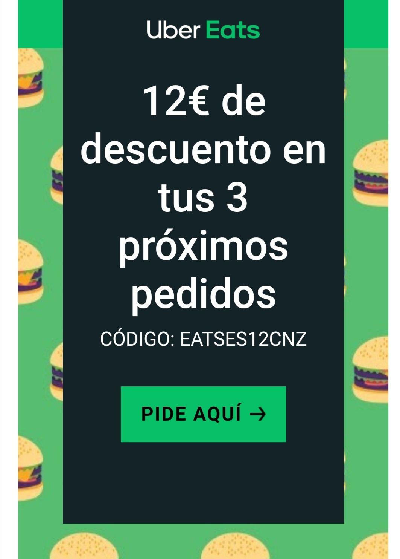 12€ de descuento en uber eats para cuentas seleccionadas