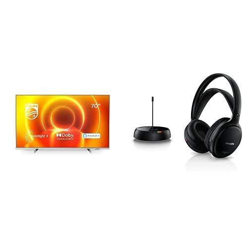 "Philips 70PUS7855/12 Televisor Ambilight de 70"", Alexa Integrado, Smart TV) con Auriculares TV Inalámbricos"
