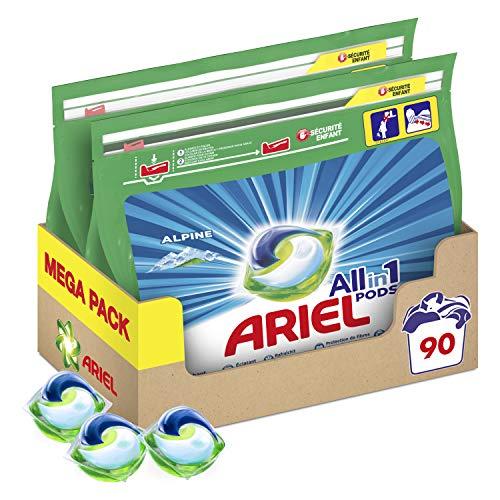 Ariel Pods Detergente Lavadora Cápsulas, 90 Lavados (Pack 2 x 45)