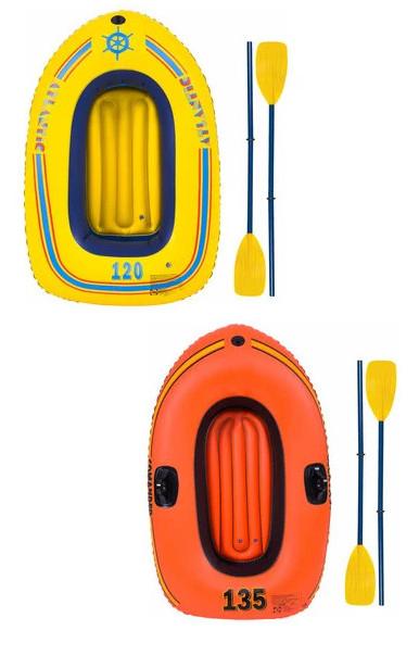 Barca hinchable 135x90 cm + 2 remos por sólo 5€ (Alcampo Torrejón)