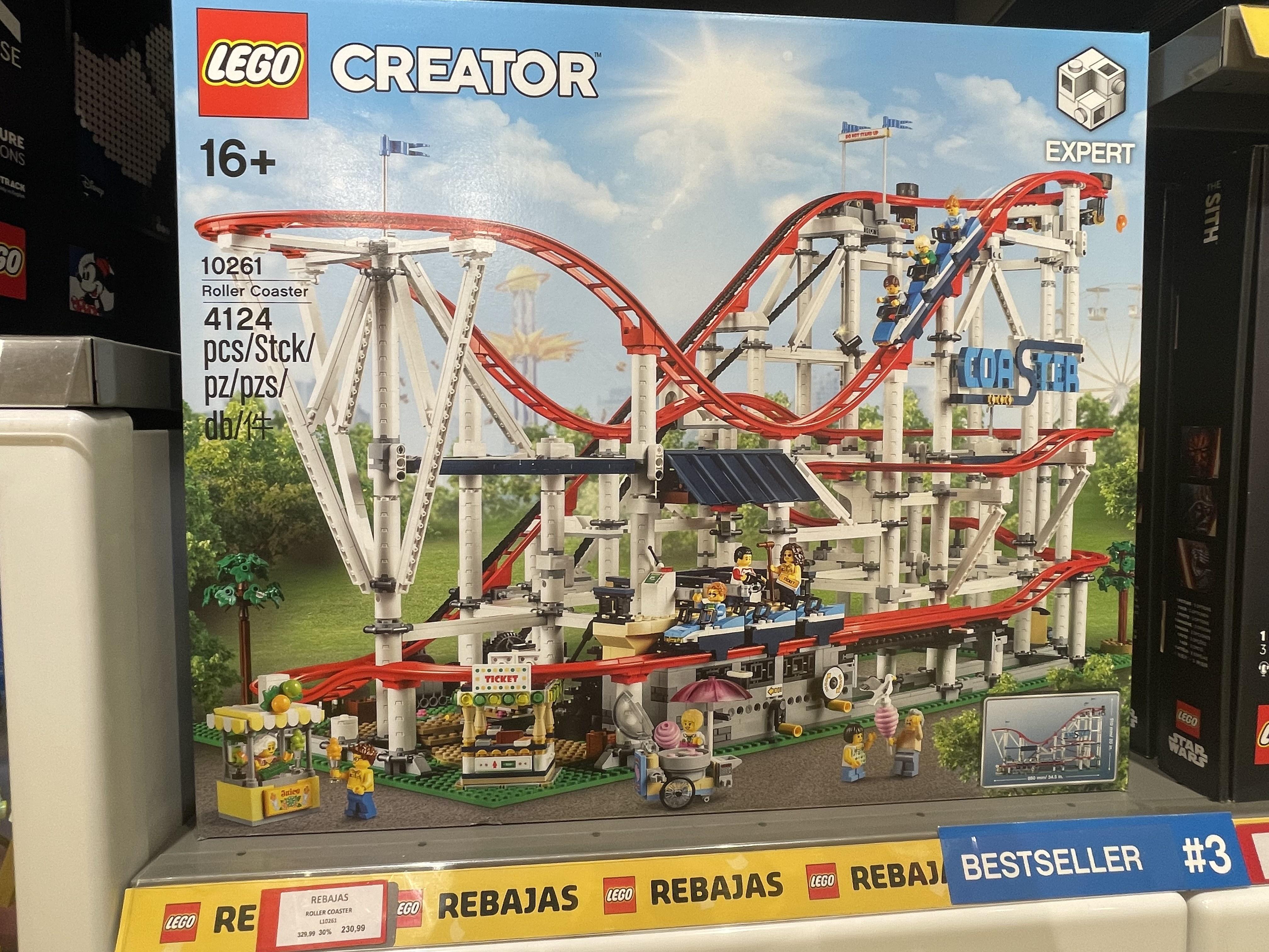 LEGO Creator - Montaña rusa (10261) Roller Coaster en tienda lego parquesur