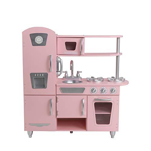 KidKraft 53179 Cocina de juguete con diseño Vintage de madera - Rosa