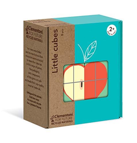 Clementoni Play for Future- 6 Cubos Serigrafiados Pequeños Objetos, Multicolor