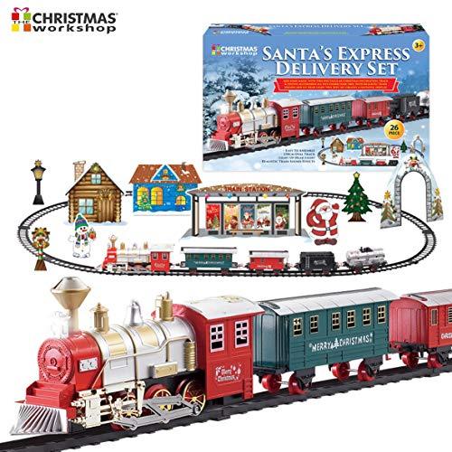 Tren navideño de Entrega exprés de Papá Noel de Lujo | Sonidos y luz realistas Multicolor